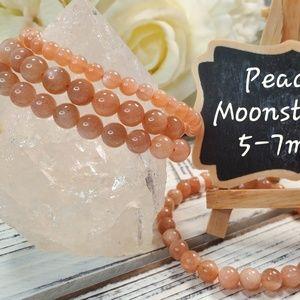 Jewelry - Peach Moonstone 5-7mm beaded bracelet